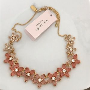 NEW Kate Spade ♠️ Bed of Roses Pink Ombré Necklace